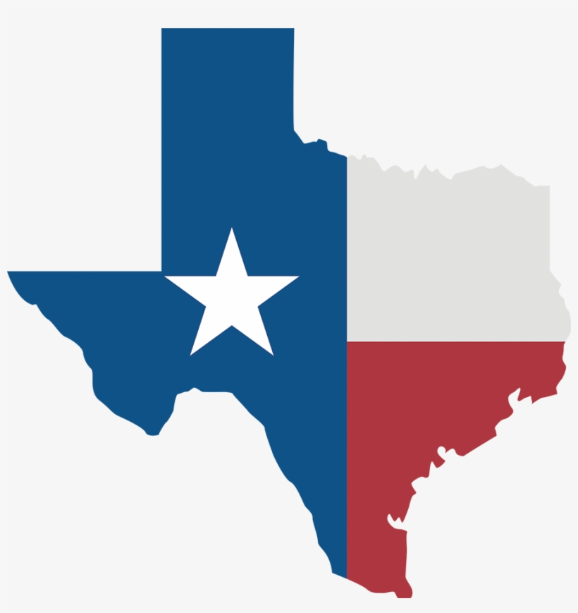 Texas Star Map - Texas State Flag, transparent png #1966243