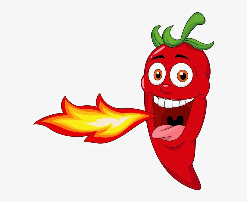 Clip Royalty Free Stock Chili Spice Mexican Cuisine - Cartoon Chili Pepper, transparent png #1966646