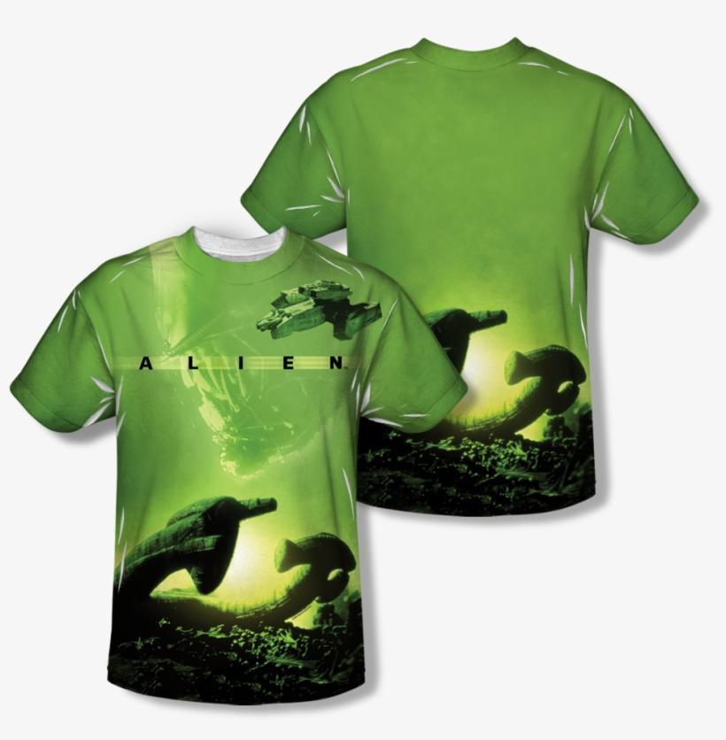Alien™ Ship All Over T Shirt - Alien - Ship (front/back Print) T-shirt Size M, transparent png #1967331