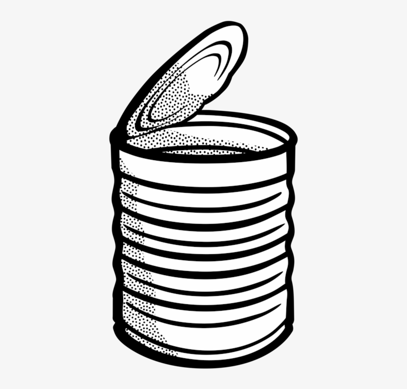 Campbell's Soup Cans Tin Can Beverage Can Metal Can - Can Clipart Black And White, transparent png #1968144