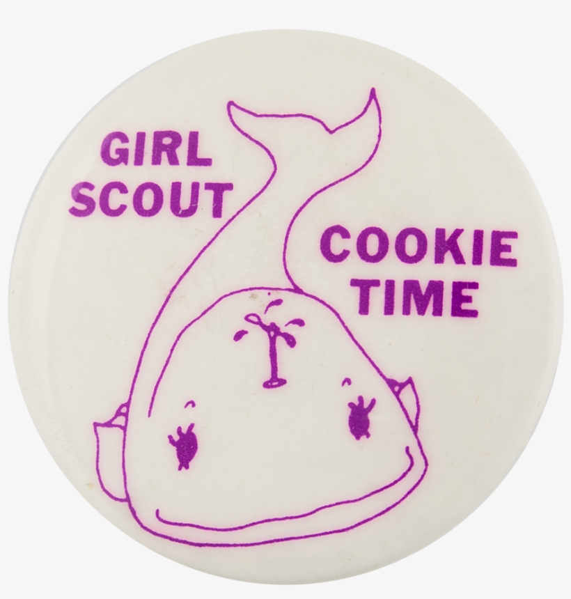 Girl Scout Cookie Time Events Button Museum - Circle, transparent png #1968304