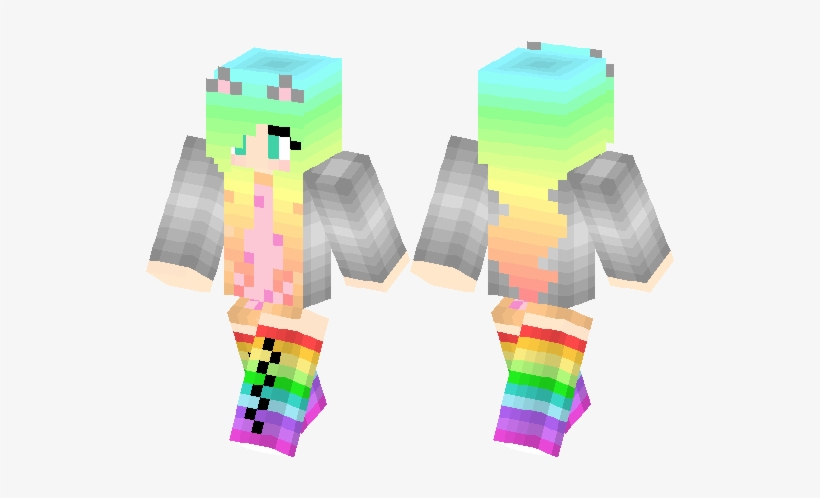 Minecraft Skins Girls Cat Free Transparent Png Download Pngkey