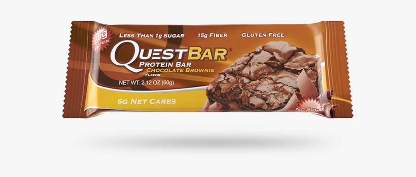 Quest Bar Chocolate Brownie - Quest Nutrition Quest Bar 12 Bars Chocolate Brownie, transparent png #1972900