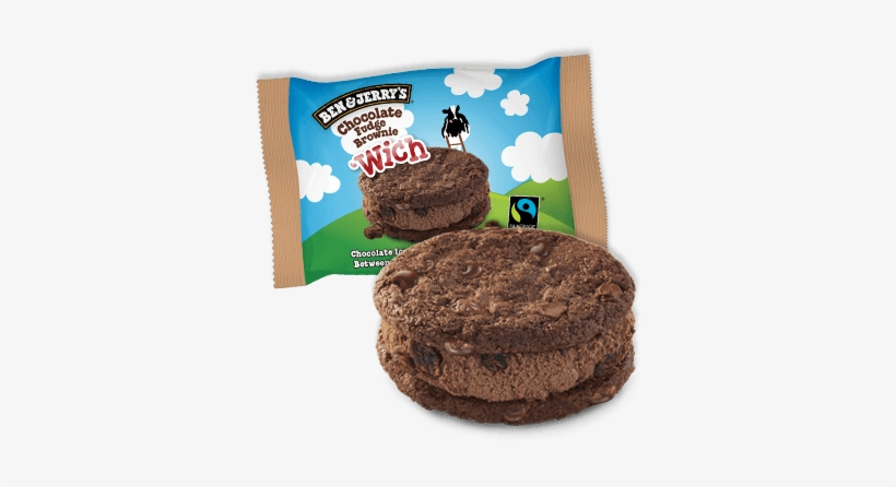 Chocolate Fudge Brownie 'wich Ice Cream Bar - Ben & Jerry's Chocolate Fudge Brownie Wich, transparent png #1973023