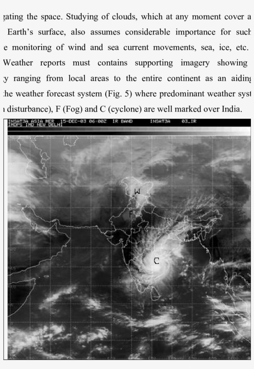 Satellite Imagery Showing Various Weather Systems Over - Weather, transparent png #1973053