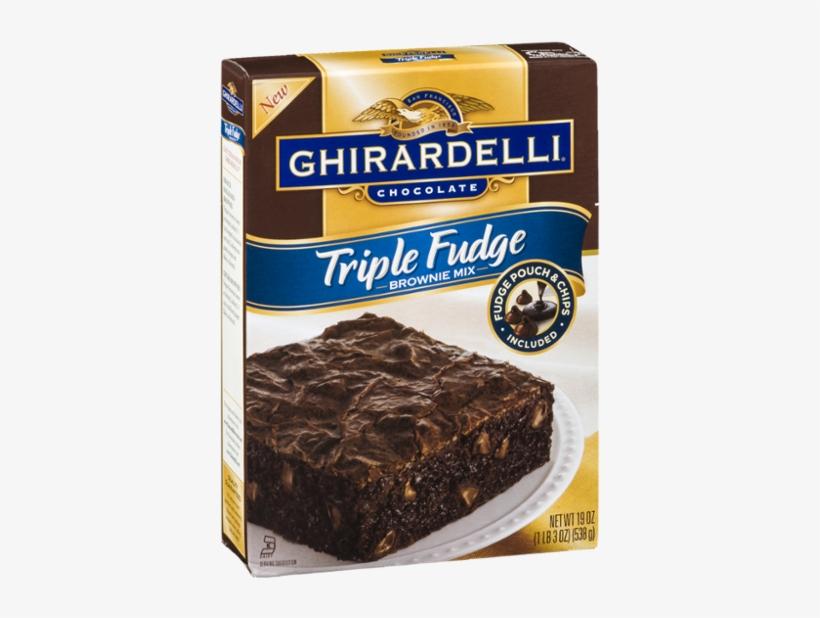 Ghirardelli Triple Fudge Brownie Mix (2 Pack), transparent png #1973323
