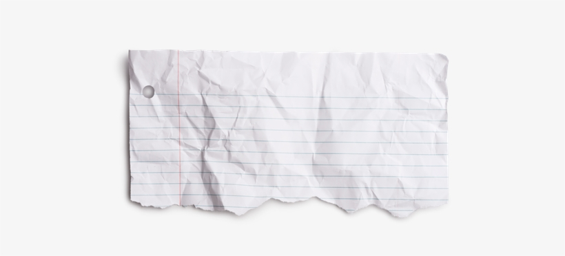 Torn paper transparent note. Notebook png clip art