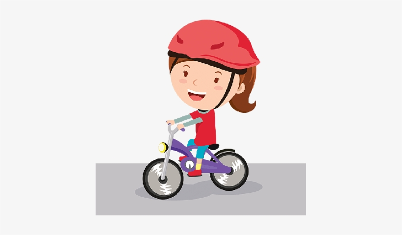 Bikes And Bicycles Girl Riding Bike Clipart The Arts - Girl Riding Bike Clipart, transparent png #1975798