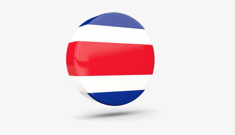 Illustration Of Flag Of Costa Rica - Costa Rica Flag Round Png, transparent png #1977088