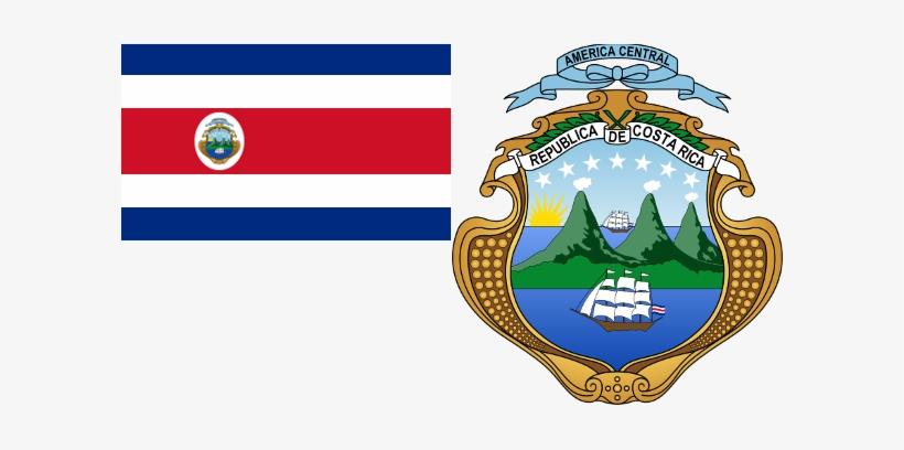 Costa Rica Flag & Coat - Escudo De La Bandera De Costa Rica, transparent png #1977380