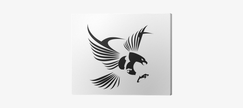 Flying Eagle, Spread Out Its Feather Canvas Print • - Flying Eagle Logo Design Png, transparent png #1981780