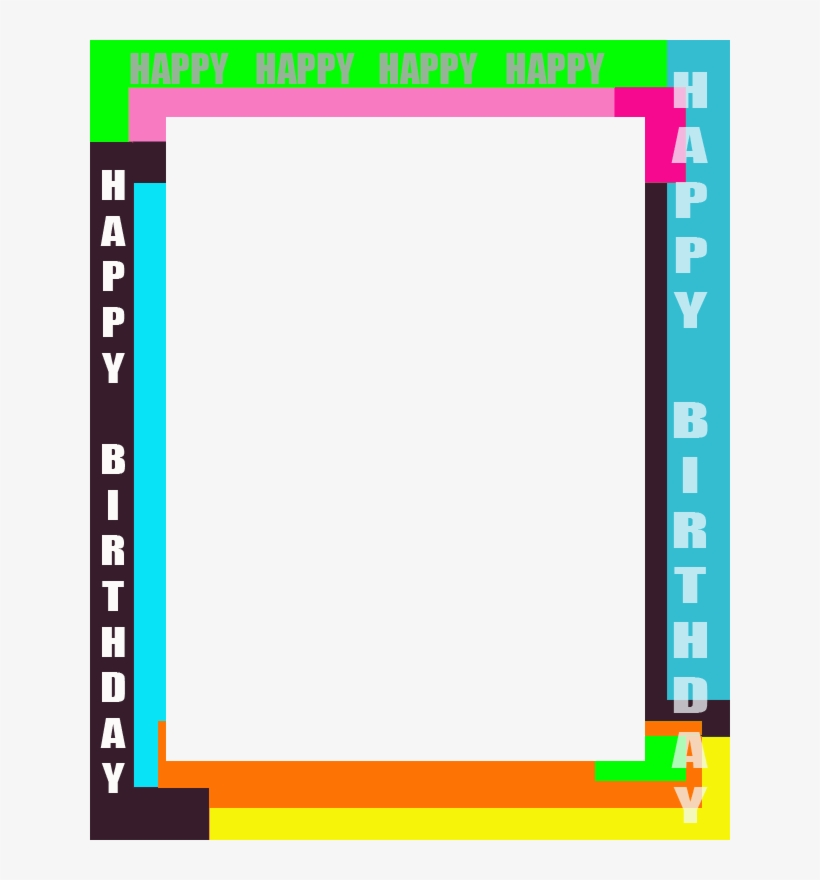Happy Birthday Magazine Frame - Happy Birthday Frame Png, transparent png #1987152