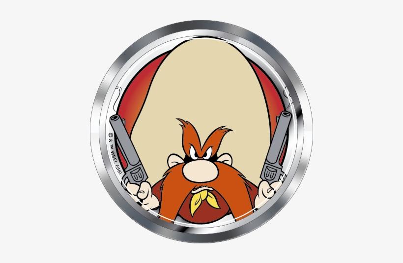 Looney Tunes Yosemite Sam Premium 3d Chrome Fan Emblem - Yosemite Sam Premium 3d Chrome Fan Emblem, transparent png #1987422