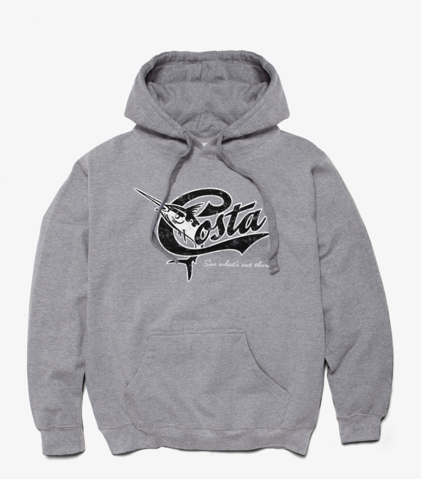Costa Del Mar Retro Hoodie In Gray, Size S, Angle - Costa Del Mar Logo Hoody Grey - Xxl, transparent png #1988334