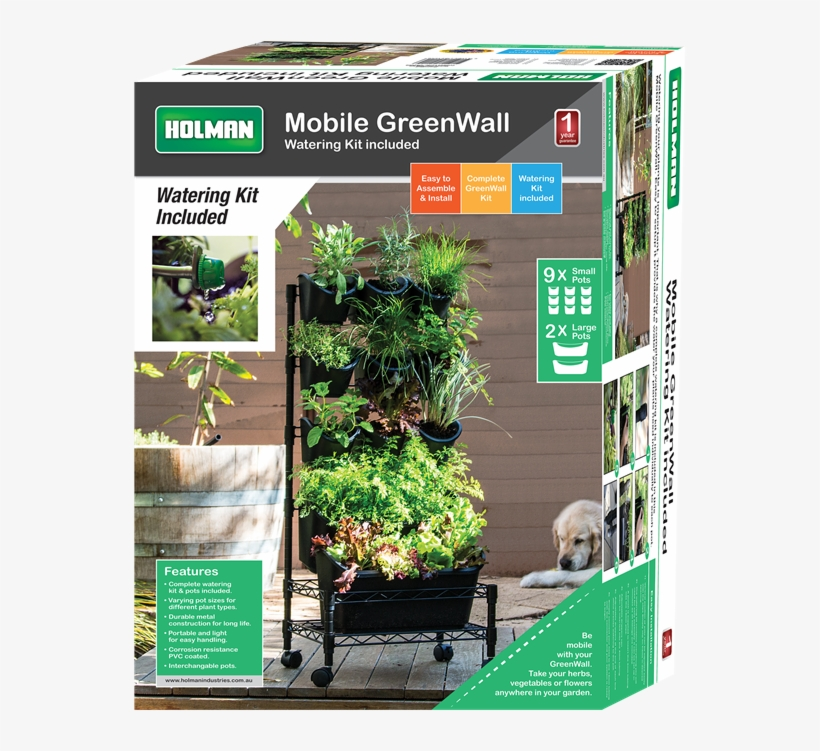Holman Mobile Greenwall Vertical Garden - Watex Metal Mobile Green Wall - Single Frame, transparent png #1988393