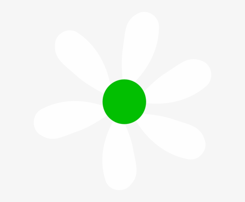 How To Set Use Green-white Daisy Svg Vector - Free Transparent PNG