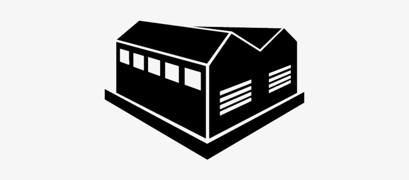 Industrial Building Vector - Building Factory Icon, transparent png #1994866