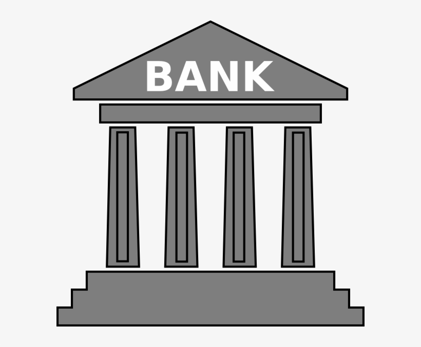Banks Group Gray Clip Art At Clkercom - Clipart Bank Account, transparent png #1994993