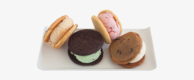 4 Ice Cream Sandwiches On A Plate - Ice Cream Sandwich, transparent png #1995229