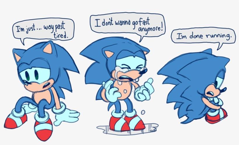 Sonic S Feeling Of Running Alot Coldsteel The Hedgehog Fan Art Free Transparent Png Download Pngkey