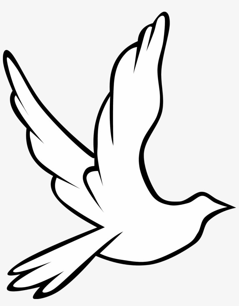 Flying Dove Clip Art At Clker Prayer Hands Drawing Easy Free