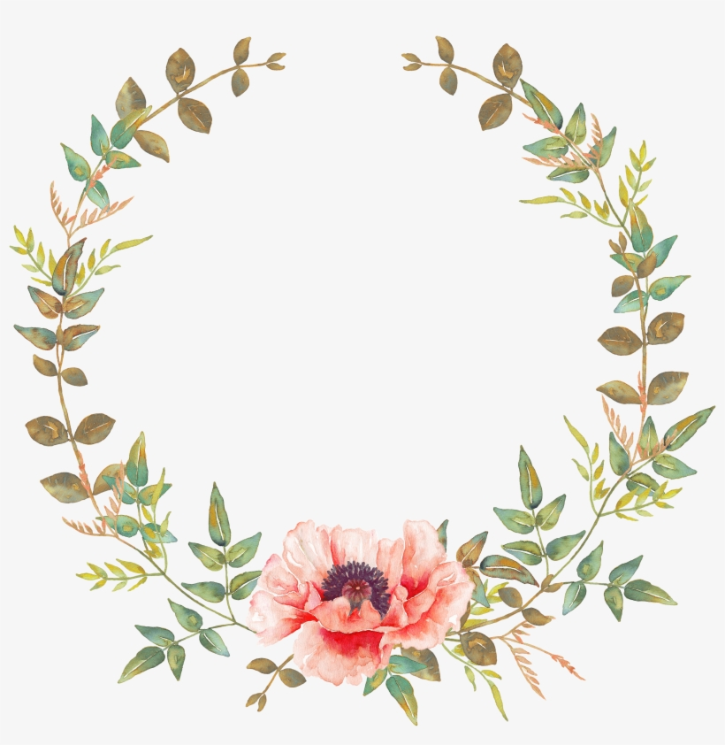 Pin By Ламия Мараяну On В Круге - Transparent Watercolor Floral Wreath, transparent png #20207