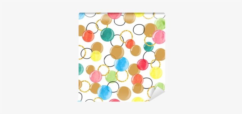 Seamless Pattern With Colorful Watercolor Bubbles - Watercolor Painting, transparent png #20339