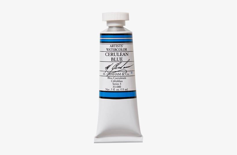 Graham Artists' Paint - M. Graham 1/2-ounce Tube Watercolor Paint, Cerulean, transparent png #20885