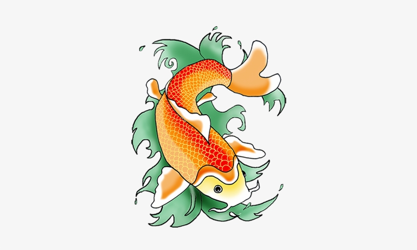 Svg Black And White Stock Color Koi Fish Clipartfest - Clipart Koi Fish Png, transparent png #21094