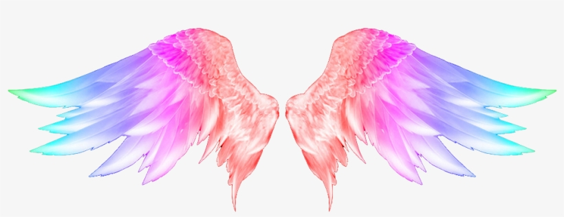 Report Abuse - Colorful Angel Wings Tattoo, transparent png #21230