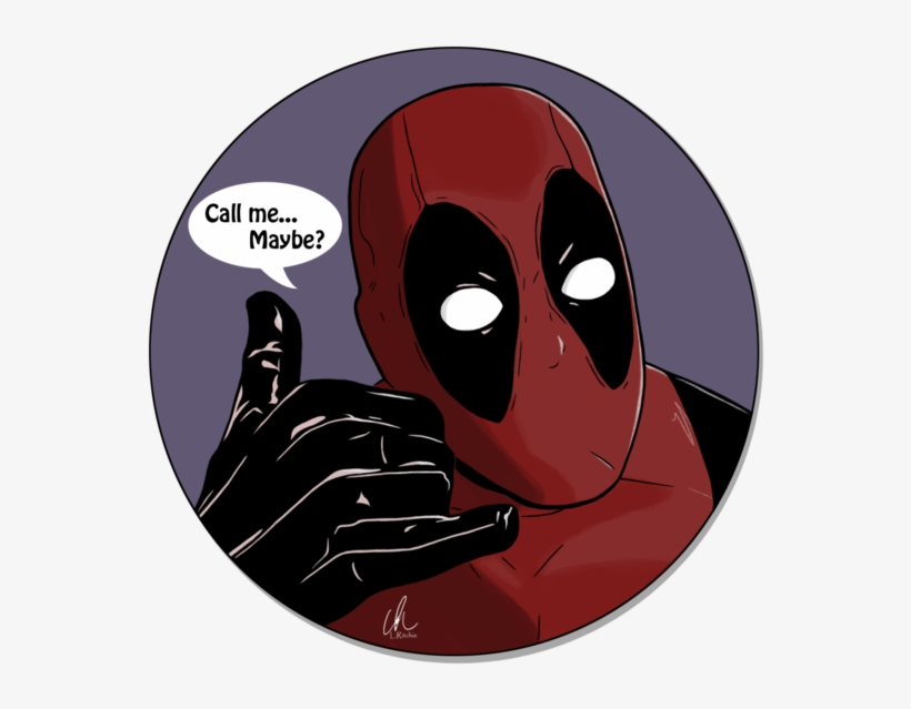 Call Me Maybe By Lritchieart On Deviantart - Deadpool Call Me Maybe, transparent png #21305