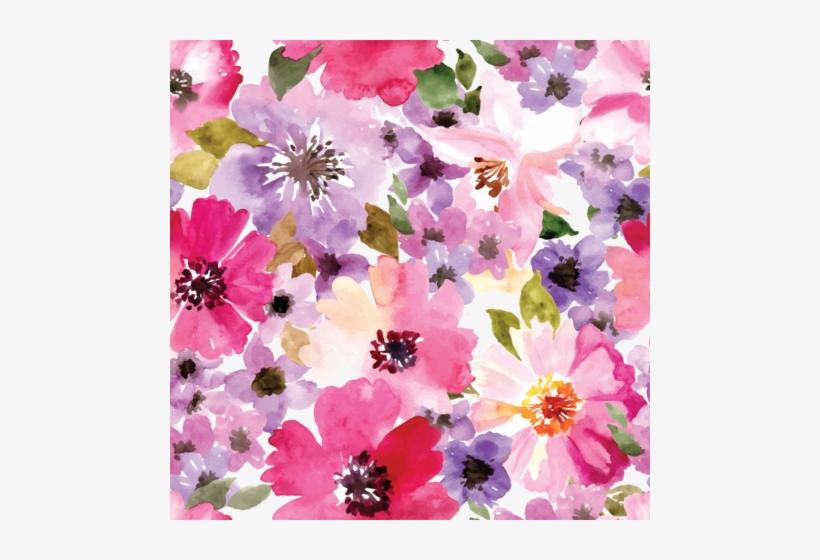 Watercolor Floral Patterned Vinyl - Background Flower Purple Watercolour, transparent png #21392