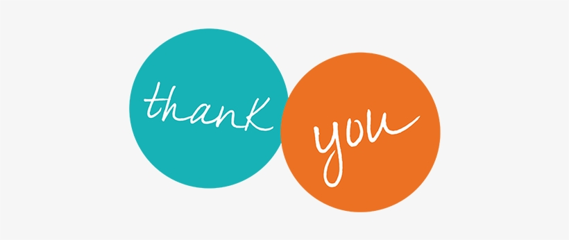 Thank You - Thank You Blue And Orange, transparent png #21677