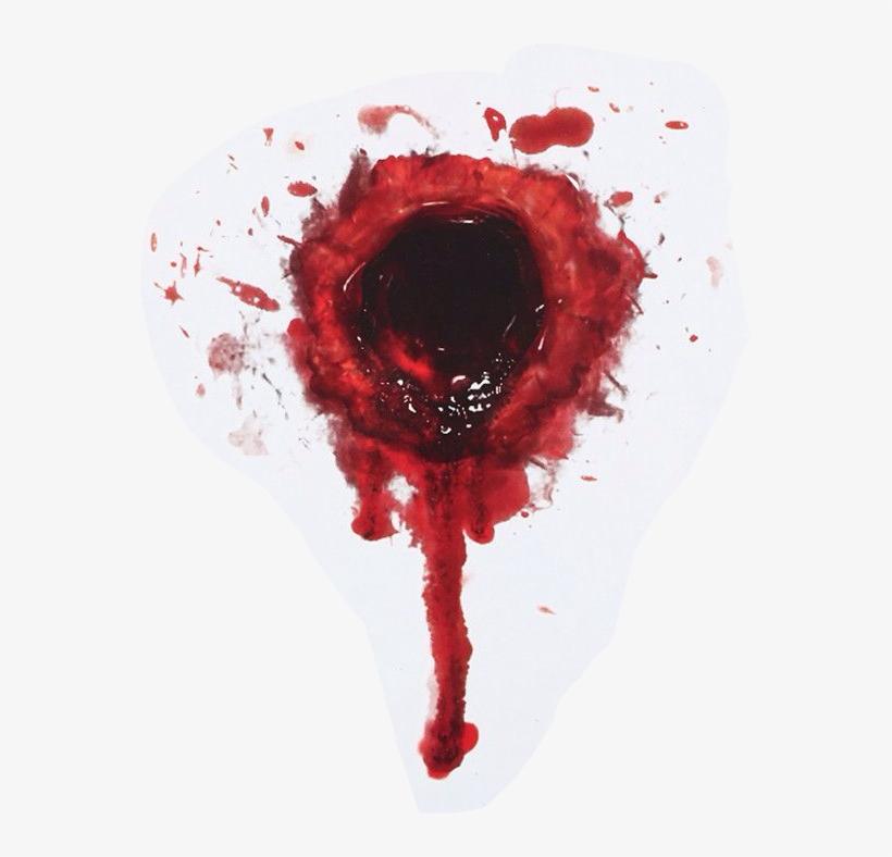 40764cf49aec Gunshot Blood Horror Gun - Bullet Hole With Blood - Free Transparent ...