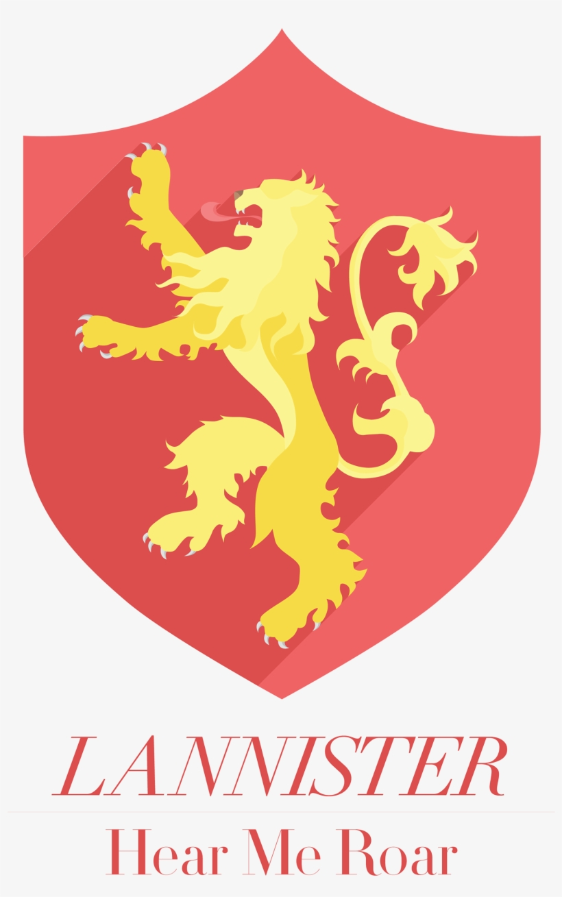 Flat Icon Versions Of The Sigils Of The Great Houses - House Lannister, transparent png #22295