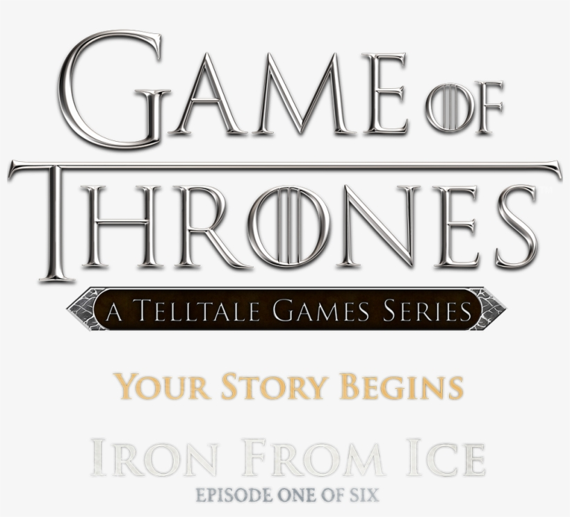 Game Of Thrones Logo Png Image - Game Of Thrones Telltale Games Logo, transparent png #22540