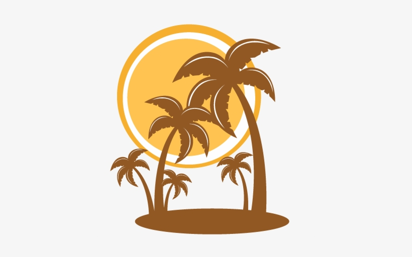 Clip Art Tree Silhouette Palm Tree Png, transparent png #22779