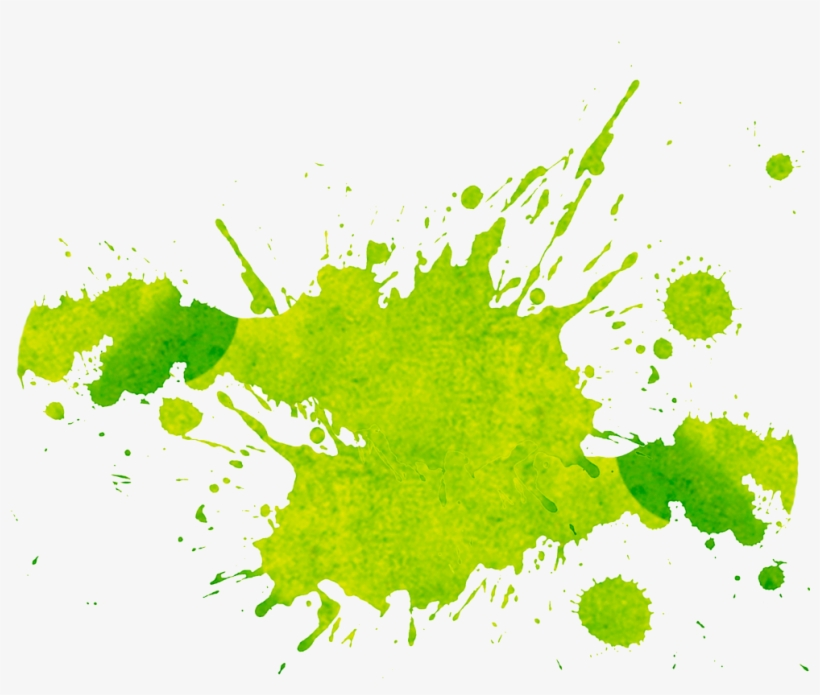 Green Splash Png - Green Paint Splatter Png, transparent png #23158