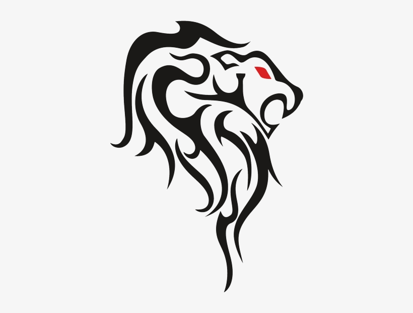 Lion Tattoo Red Eye Png - Leo Tribal Tattoos Drawing, transparent png #23244