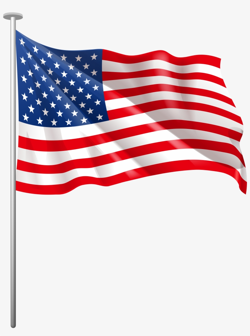Us Flag American Flag Usa Clipart Png - Usa Flag Clipart Png, transparent png #23402