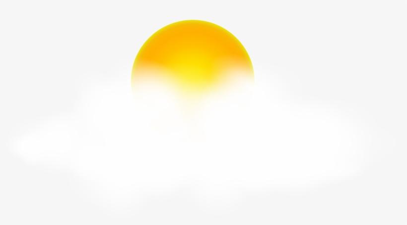 Sun With Cloud Png Large Transparent Clip Art Image - Sun And Cloud