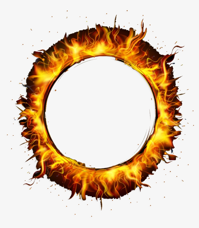 Circle Fire Png Banner Library Stock - Round Fire Flame Png, transparent png #23712