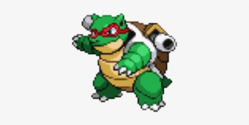 Pizza Turtle Blastoise - Pokemon Pixel Art Blastoise, transparent png #23882