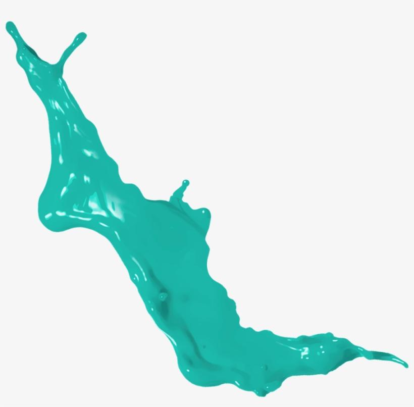 Watercolor Splash Png Image Vector - Png Splash Green, transparent png #23902