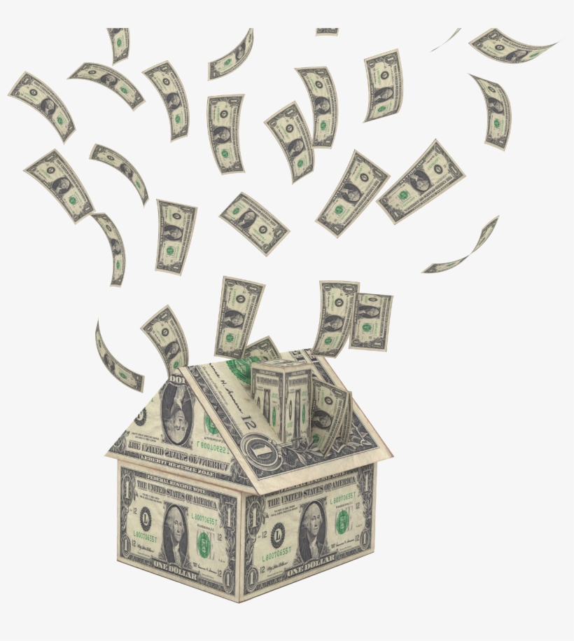 Graphic Library Stock Falling Money Clipart - Raining Money Png Gif, transparent png #23948