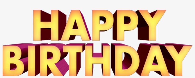 Happy Birthday Png Text 3d Free Downloads - Graphic Design