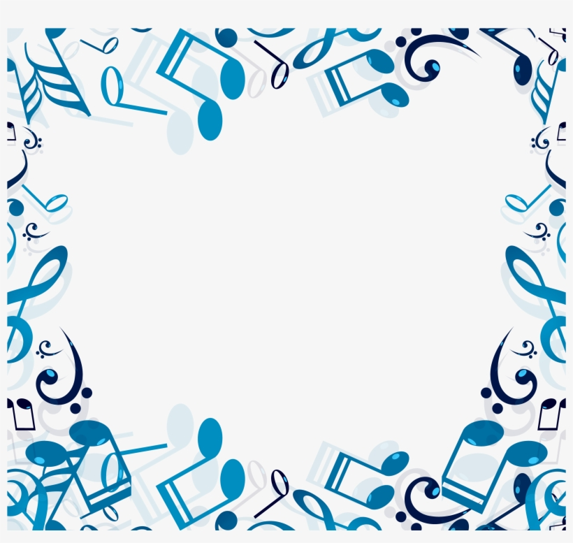 Musical Note Clip Art - Border Clip Art Music, transparent png #24489