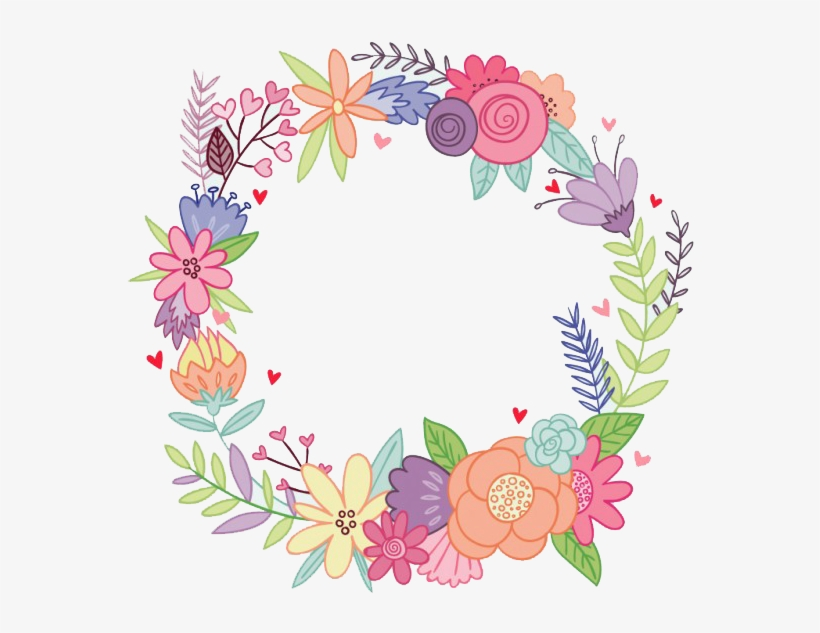 Pin By Andrea Flores On Coronas - Watercolor Flower Wreath Png, transparent png #24569