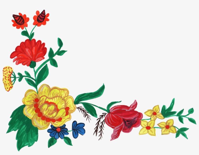 5 Watercolor Flower Corner Vol - Png Format Flowers Png Images Hd, transparent png #24851