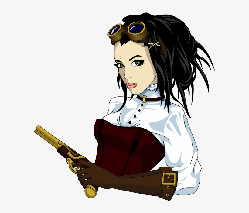 Steampunk Girl By Encho On Deviantart Jpg Transparent - Steampunk Girl Png, transparent png #25278